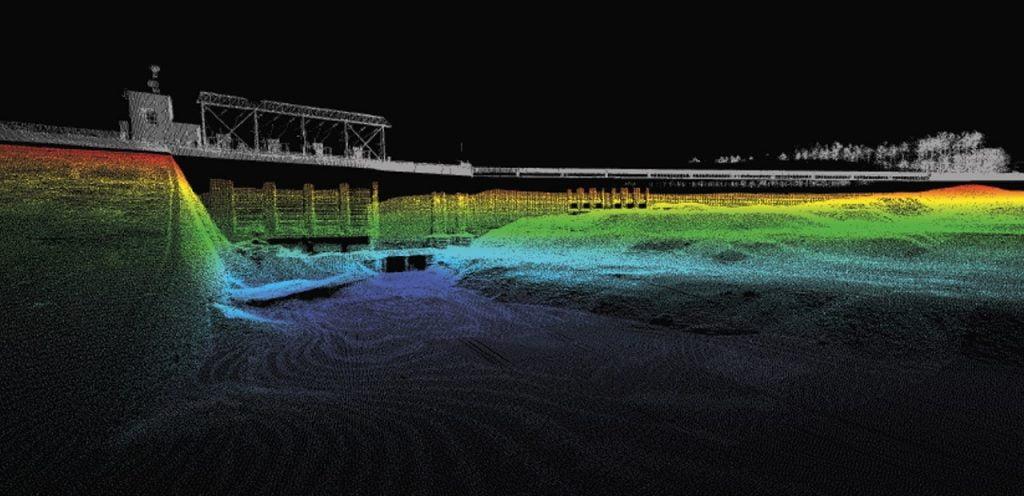 Lidar Bathymetry of Dam