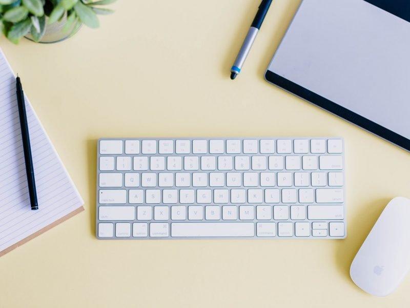work-space-desk-keyboard